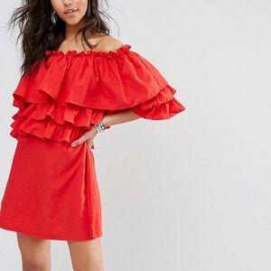 NWT Boohoo Off Shoulder Cotton Dress